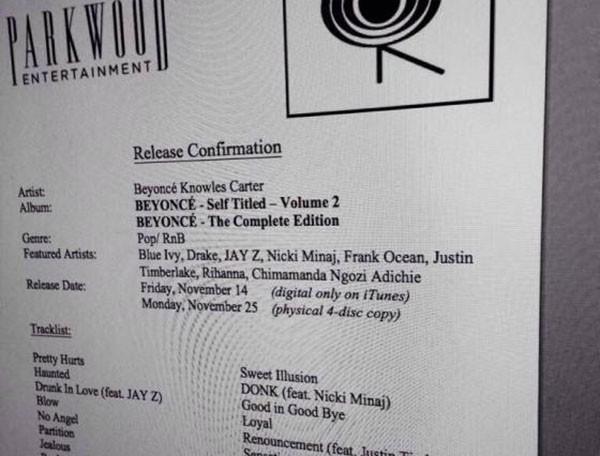 Leak di Beyoncé