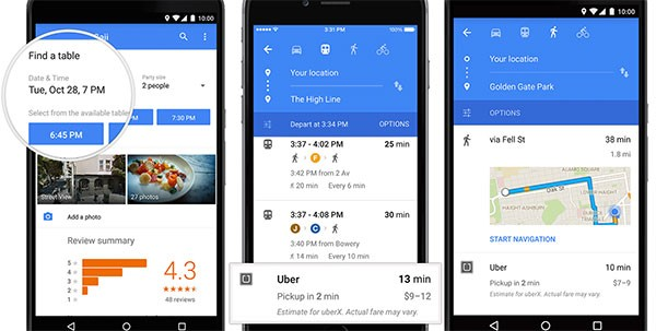 Screenshot per l'interfaccia di Google Maps 9.0.0 su smartphone Android