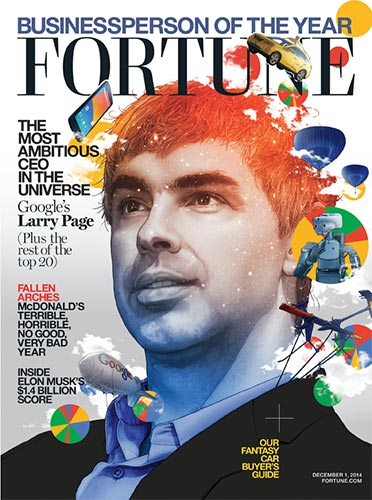 "La copertina di Fortune dedicata a Larry Page, eletto ""Business person of the year"""