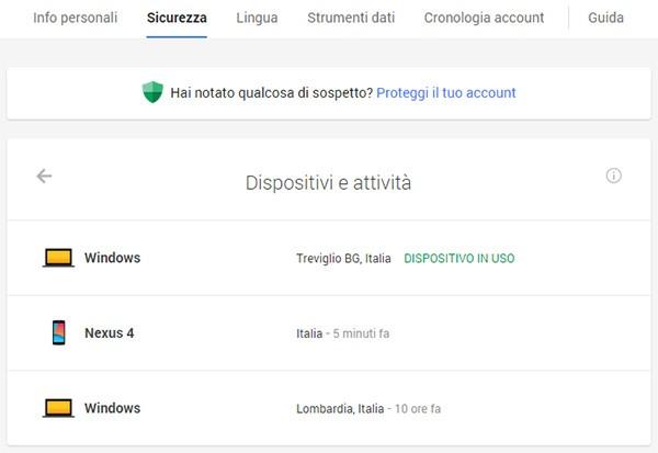 """La nuova dashboard """"Dispositivi e attività"""" introdotta da Google per aiutare gli utenti nel mantenere sicuri i propri dati"""