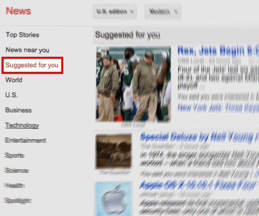 Google News: notizie suggerite