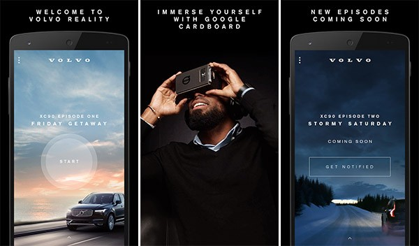 Screenshot per l'applicazione Volvo Reality disponibile su smartphone Android