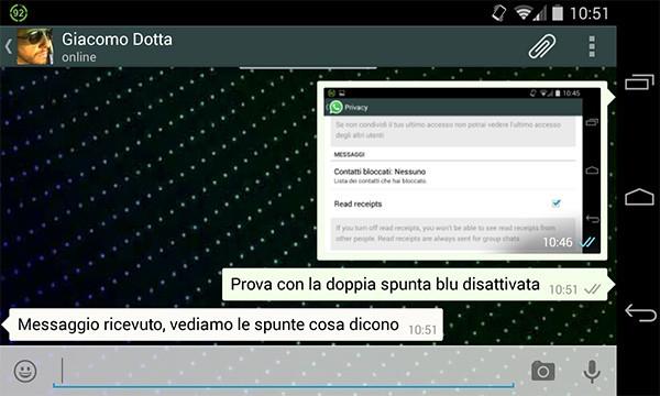 La disattivazione della doppia spunta blu funziona fin da ora con la versione beta dell'app