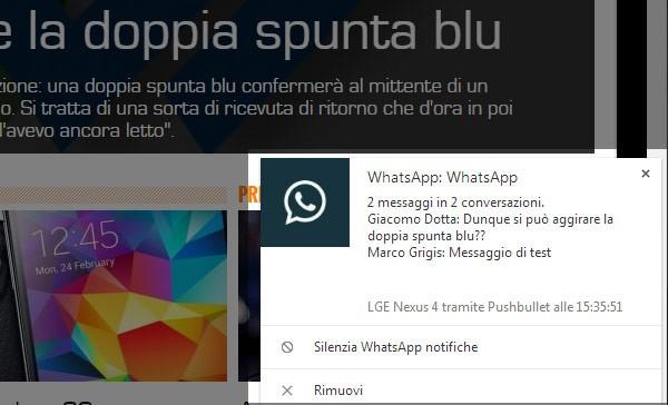Il metodo funziona anche quando si ricevono messaggi da più contatti