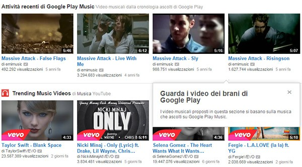 YouTube Music Key suggerisce i video in base agli ascolti di Google Play Music