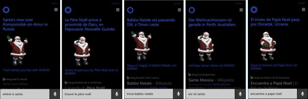 Cortana e Babbo Natale