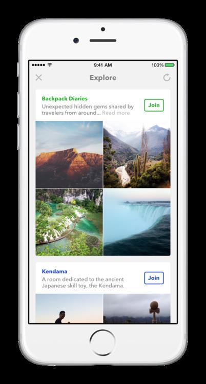 Explore in Facebook Rooms