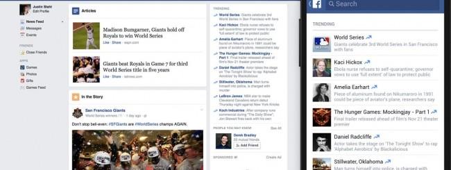 Facebook per Android - Trending Topics