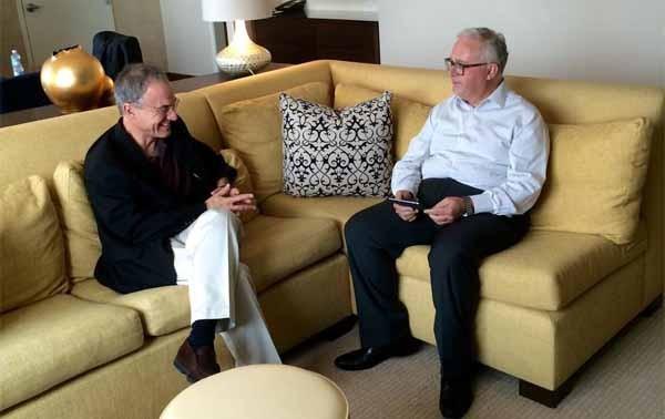 Giancarlo Carniani e Steve Kaufer. Al BTO oggi è stata trasmessa una inedita intervista al fondatore di Tripadvisor, uno dei colossi del turismo online, che vale oggi 12 miliardi di dollari.