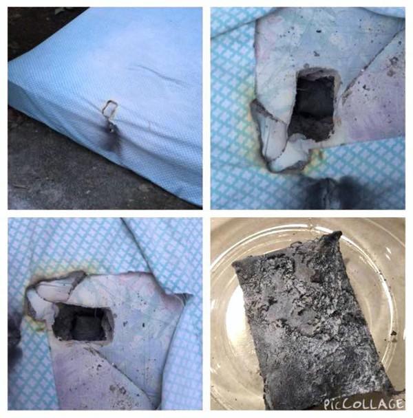 LG G3: prendendo fuoco, ha provocato un buco nel materasso