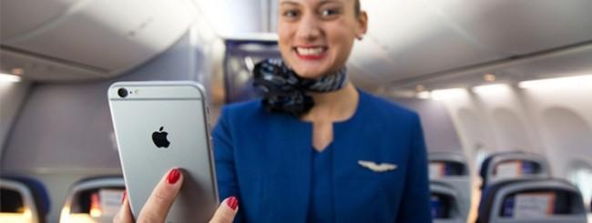 United Airlines con iPhone 6 Plus