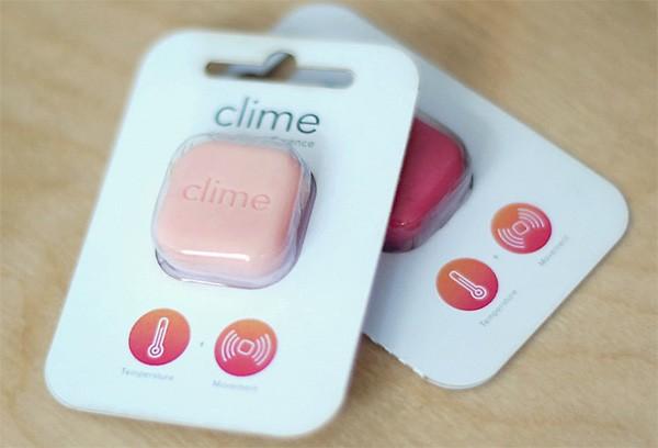 I sensori smart Clime nella loro confezione