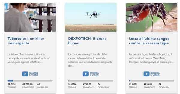 Sul portale Universitiamo.eu si trovano già alcuni progetti di ricerca finanziabili dalla collettività. Per ogni progetto una descrizione, un video, l'obiettivo di finanziamento e la scadenza. In tutto e per tutto come nei portali di crowdfuding, con la differenza che i progetti non sono imprenditoriali o sociali, ma vanno direttamente a ricercatori universitari. Per ora, solo quelli dell'ateneo di Pavia.
