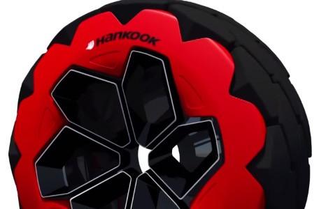 Un particolare del concept Dakar che ha vinto il Design Challenge di Hankook