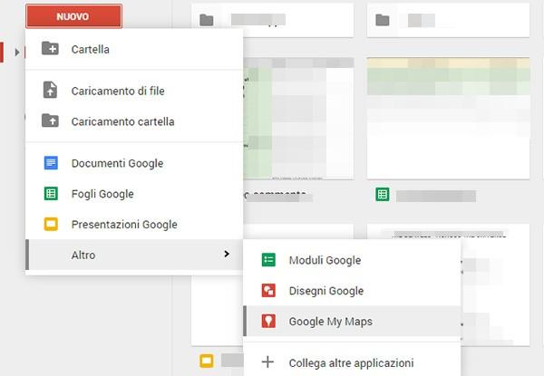 Google ha integrato la funzionalità My Maps nella piattaforma Drive