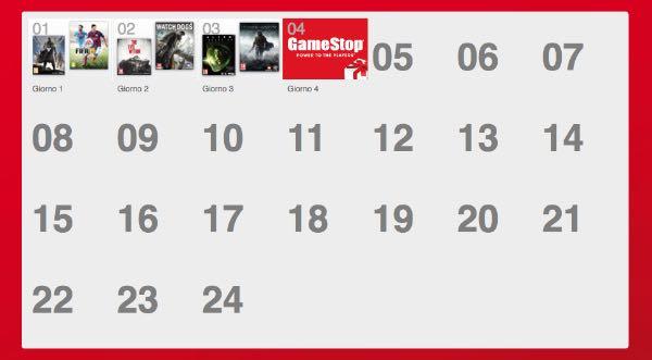 calendario dell'avvento gamestop