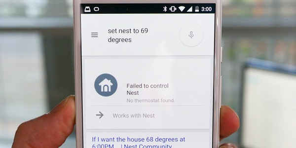 La scheda di Google Now che presto permetterà di controllare il termostato Nest mediante comandi vocali