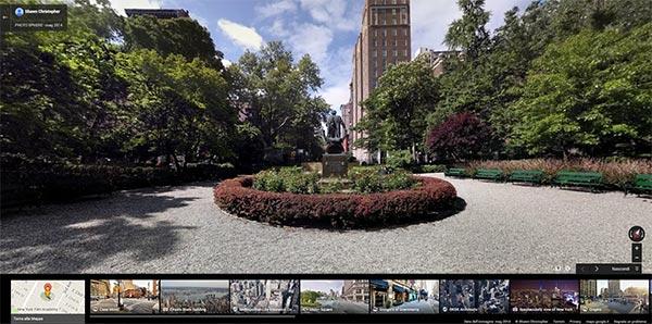 Il Gramercy Park di New York immortalato su Street View