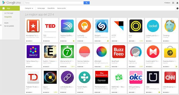 Le migliori applicazioni Android del 2014 secondo Google