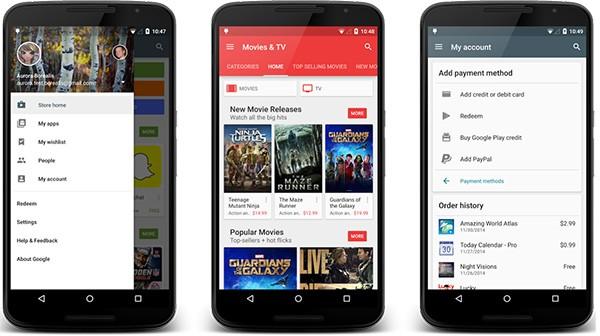 Le novità di Play Store 5.1.11 su smartphone Android