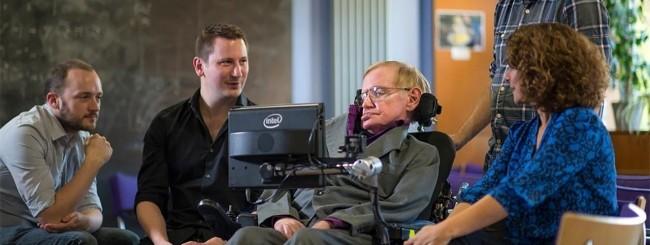 Il team di SwiftKey con Stephen Hawking