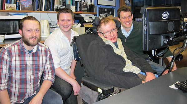 Il team di SwiftKey con Stephen Hawking