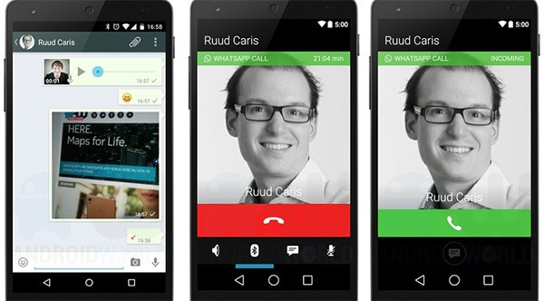 I presunti screenshot che mostrano le chiamate vocali su WhatsApp