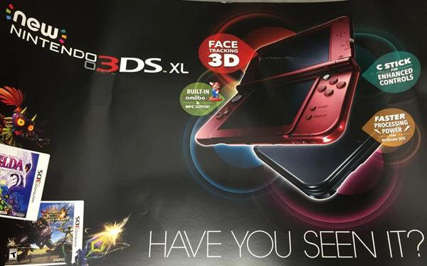 Il poster relativo al nuovo Nintendo 3DS XL