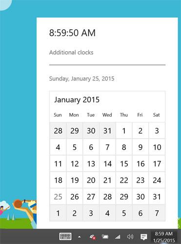 Windows 10 - Nuovo calendario