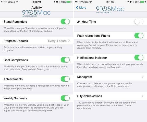 Apple Watch, l'app