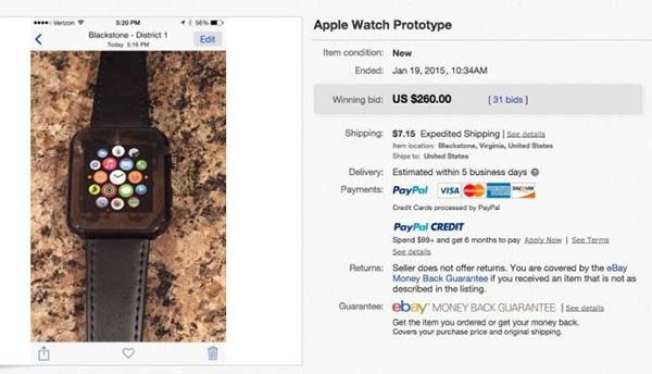 Apple Watch, il prototipo
