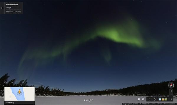 Google Maps: l'Aurora Boreale su Street View