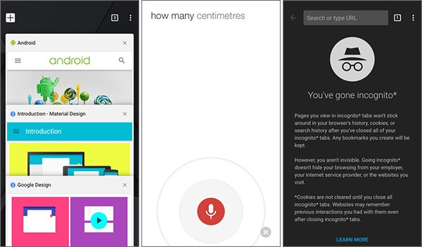 Chrome 40 per iOS e la nuova interfaccia in stile Material Design su iPhone