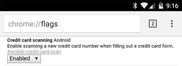 """La nuova funzionalità """"Credit card scanning Android"""" scovata nella versione 41 del browser Chrome Beta"""