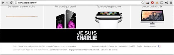 Je Suis Charlie, sito Apple