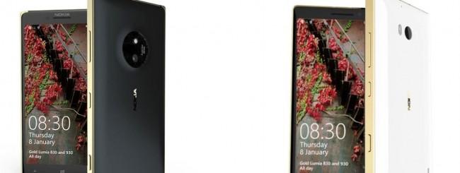 Lumia 930 e 830 Gold Edition