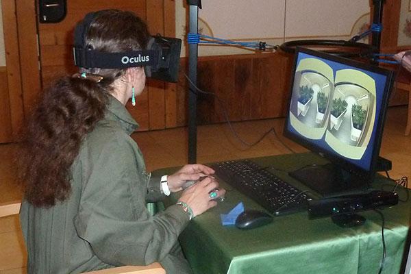 Il visore Oculus Rift per la realtà aumentata impiegato nella missione V-ERAS