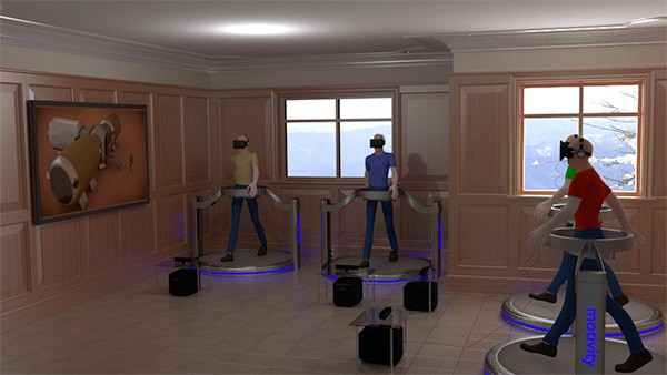 Un render per l'ambiente di simulazione che verrà creato nella stazione spaziale progettata dall'Italian Mars Society