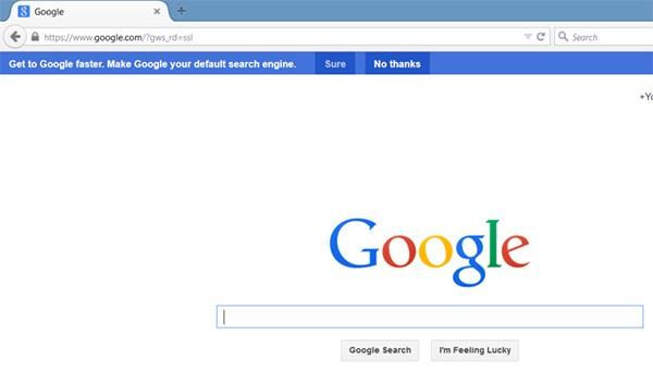 Il messaggio mostrato per spingere gli utenti Firefox a impostare nuovamente Google come motore di ricerca predefinito