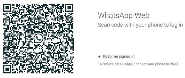 Il codice QR da scansionare per accedere a WhatsApp Web