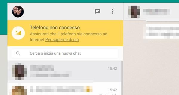 Problemi di sincronizzazione tra WhatsApp Web e l'applicazione su smartphone