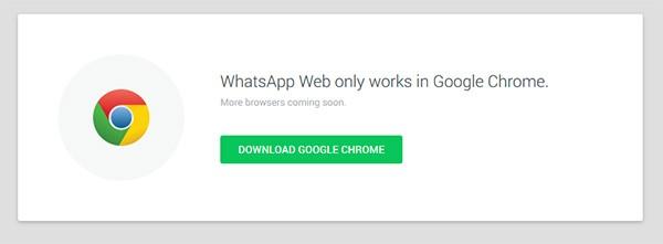 Il messaggio visualizzato aprendo WhatsApp Web con il browser Firefox