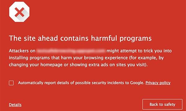 Il nuovo avviso mostrato da Chrome quando si naviga su siti ritenuti poco sicuri da Google, in quanto offrono il download di file sospetti