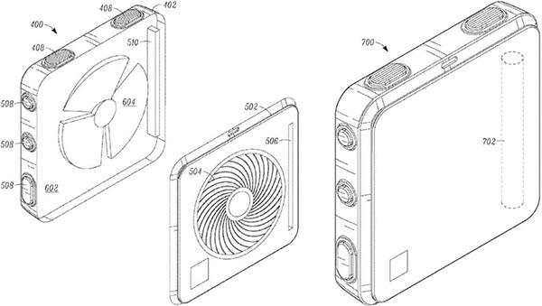 """Immagini dal brevetto di Google relativo ad un dispositivo indossabile che """"profuma"""" l'utente"""