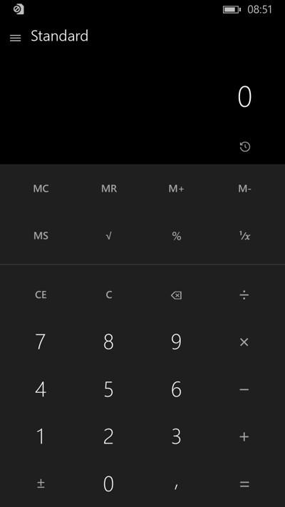 Calcolatrice per Windows 10 per smartphone