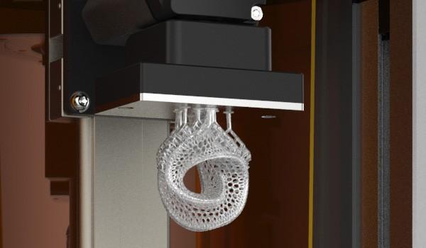 Un oggetto stampato con la tecnica DLP usata da Autodesk Ember