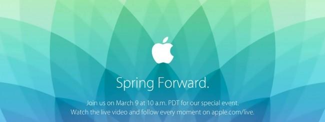 Evento Apple del 9 marzo