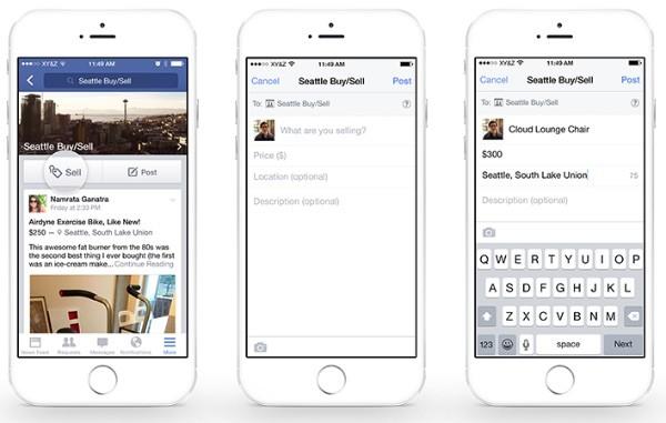 Facebook nuova funzione vendi