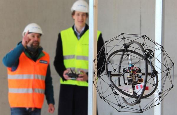 Il drone GimBall progettato da Flyability