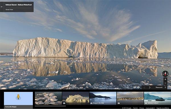 L'iceberg Ilulissat fotografato dal team di Google Maps per Street View